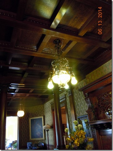 Chandilier and celing in Grand Foyer