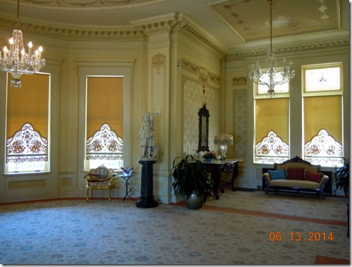 Louis XIV Drawing Room with Austrian Curtains