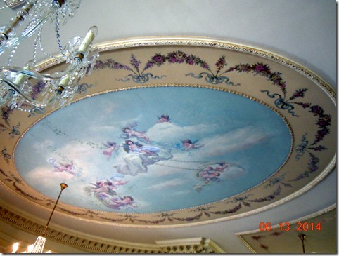 Ceiling in Louis XIV Drawing Room