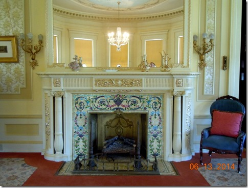 Fireplace in Louis XiV Drawing Room