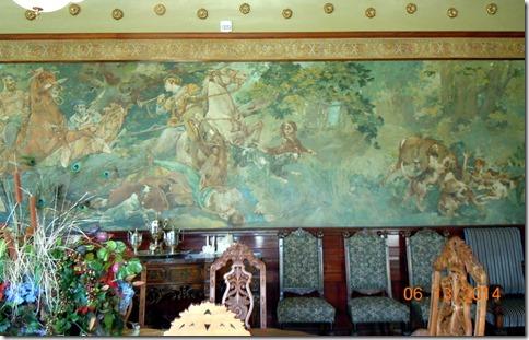 Mural in dining room