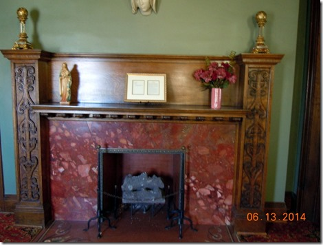 Upstairs landing fireplace