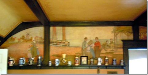 Mural in billiard room