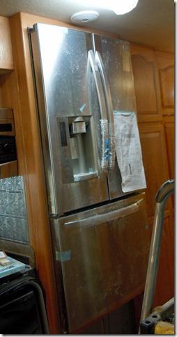 New cabinet around the new refrigerator