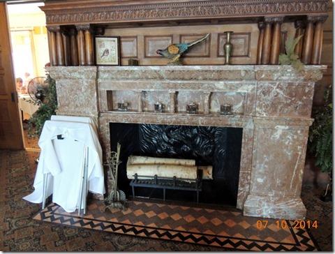 Main floor fireplace, Studebaker Mansion