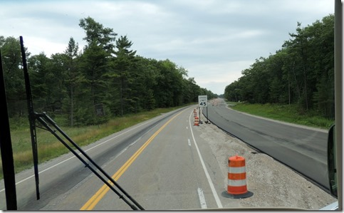 Construction on Hwy 23, Michigan