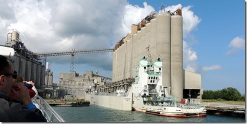 Frieghter at largest concrete plant