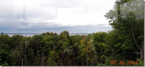 View from the top of the McGulpin Point Lighthouse