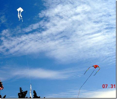 Kite flying-Mackinac Island MI