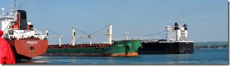 3 tankers -Soo Locks Tour