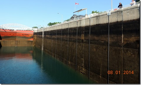 In the Canadian Lock-Soo Locks Tour