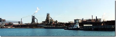 Canadain steel factory-Soo Locks Tour