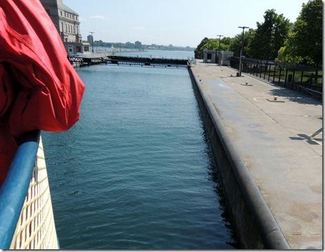 American lock, note height of water.
