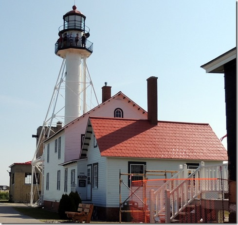 Whitefish Lighthouse and keepers cottage