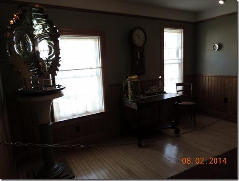 Inside lightkeepers house