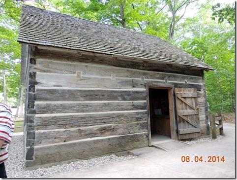 Back of the Hessler Log Cabin