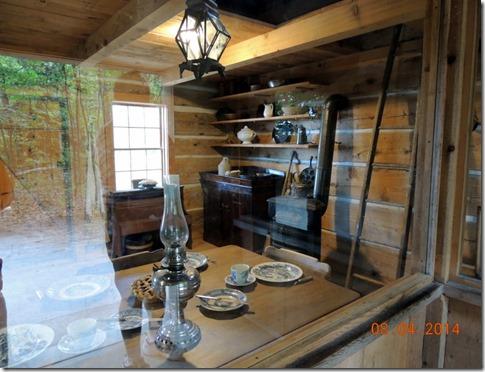 Inside the Hessler Log Cabin