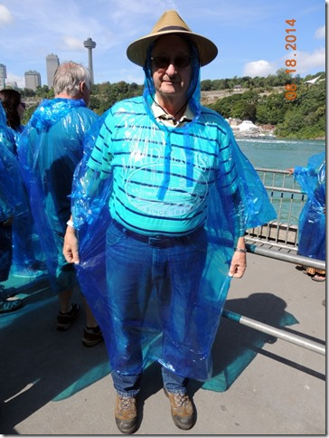 Bob in our stylish ponchos