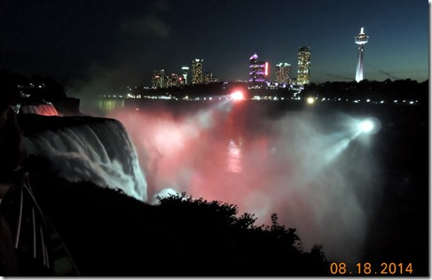 Nightime at Niagra Falls