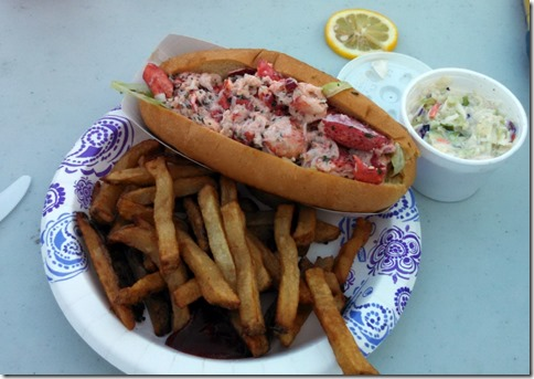 My Lobster Roll with fries