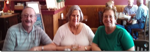 Bob, Sandra and Me at lunch