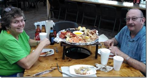 Dinner at Crab Shack