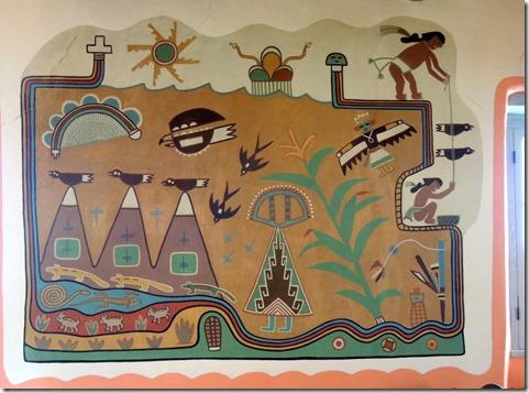 Mural, Painted Desert Inn