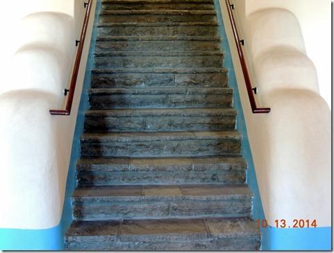 Petrified wood stairs, Painted Desert Inn