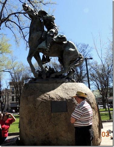 Rough Riders Sculpture, Part of the town square- Prescott AZ