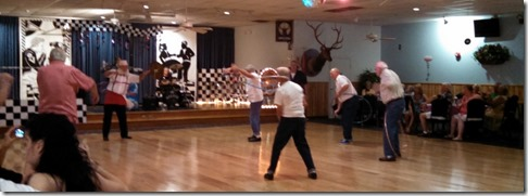 The guys hola hoop contest at Elks Lodge 3/14/15