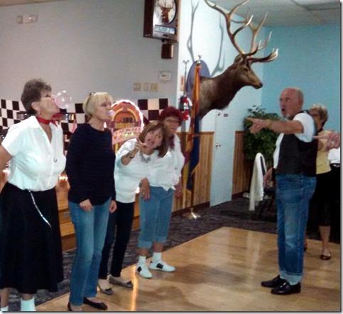 Bubble gum blowing contest Elks Sock Hop 3/14/15