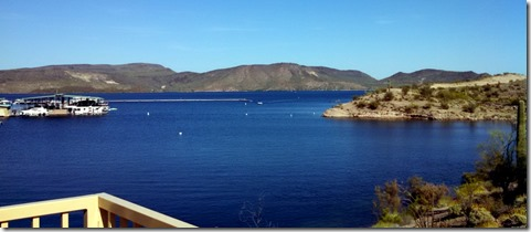 Lake Pleasant from top of Funicular