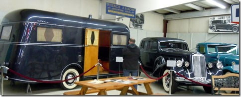 1937 Pierce Arrow with matching travel trailer