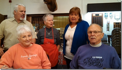 Marilyn, Noel, Maryanna, Julie and Jerry @ Elks Mothers Day Breakfast