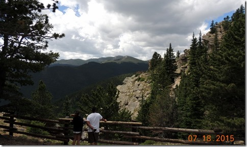 View from our picnic table of Juniper Pass in Arapahoe National Forest