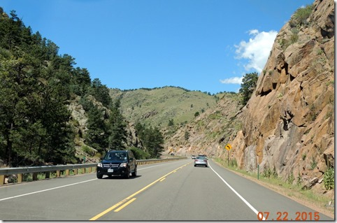 Hwy.  36 from Lyons to Estes Park