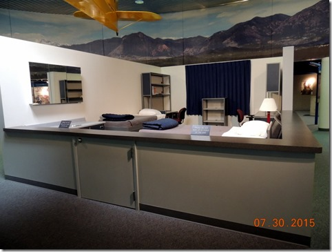 A dorm room at Air Force Academy
