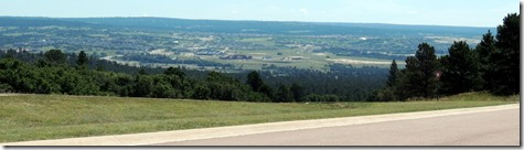 Scene from top of hill at Air Force Academy