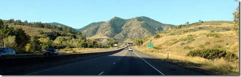The drive on Hwy 285.