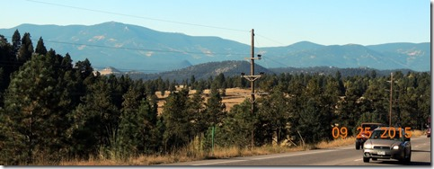 From Hwy 285