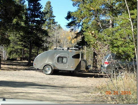 Trailer in the campground