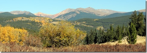 View from where we came Kenosha Pass on Hwy 285 in CO