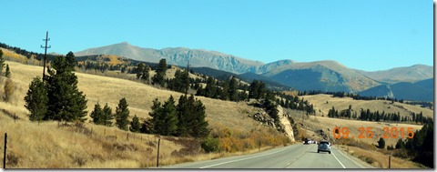 Traveling back from Kenosha Pass on Hwy 285 in CO