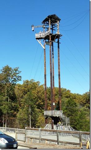100 ft Zipline tower