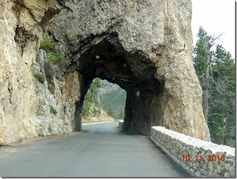 Hood tunnel-Needles Scenic By-way-Custer State Park