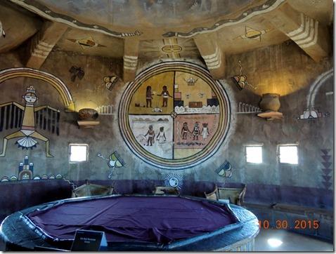 Inside the Desert View Watch Tower.