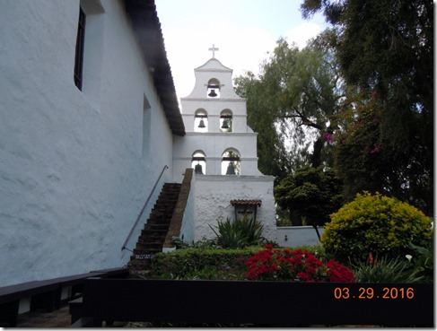 Back side of the bells, Mission San Diego
