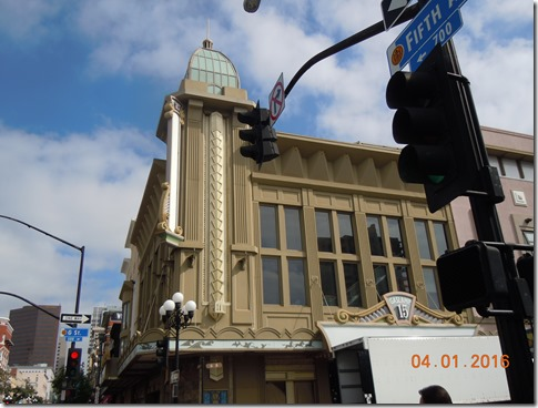 Art Deco building Gaslamp Quarter San Diego