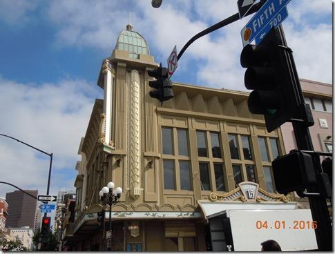 Art Deco building Gaslamp Quarter San Diego