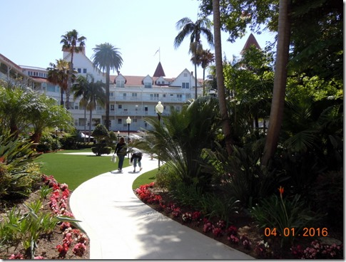 Courtyard in Hotel Coronado